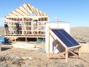 solar powered cabin underconstruction